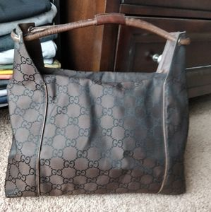 Pre Owned Gucci Monogram GG canvas bag